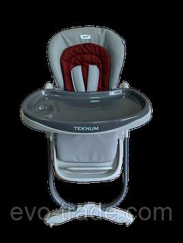 Стульчик для кормления TEKNUM168 бордовый