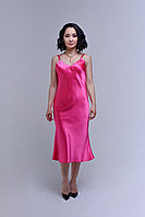 Платье - комбинация из атлас-шелка с регулируемыми бретельками