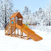 Деревянные зимние горки