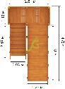 Деревянная зимняя горка Snow Fox, скат 4 м, фото 3