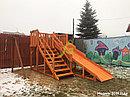 Деревянная зимняя горка Snow Fox, скат 4 м, фото 8