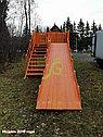 Детская деревянная зимняя горка Snow Fox, скат 5,9 м, фото 2