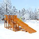 Детская деревянная зимняя горка Snow Fox, скат 5,9 м, фото 4
