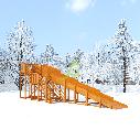 Зимняя горка Snow Fox, скат 10 м, фото 5