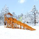Зимняя горка Snow Fox (Домик), скат 10 м, фото 6