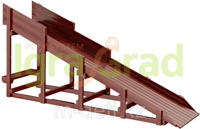 Деревянные зимние горки  Модуль Snow Fox, скат 4 м