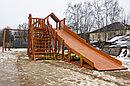"""Детская деревянная зимняя горка Snow Fox 5,9 м + """"Панда Фани Gride"""", фото 7"""