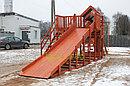 """Детская деревянная зимняя горка Snow Fox 5,9 м + """"Панда Фани Gride"""", фото 8"""