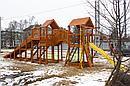"""Детская деревянная зимняя горка Snow Fox 5,9 м + """"Панда Фани Gride"""", фото 9"""