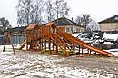 """Детская деревянная зимняя горка Snow Fox 5,9 м + """"Панда Фани Gride"""", фото 10"""