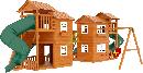 """Детская деревянная площадка  Домик 7"""", фото 3"""