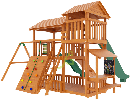 """Детская деревянная площадка  Домик 3"""", фото 2"""