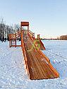 """Зимняя деревянная горка """"Snow Fox 12 м"""" с двумя скатами (две лестницы), фото 8"""