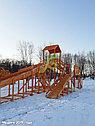 """Зимняя деревянная горка """"Snow Fox 12 м"""" с двумя скатами (две лестницы), фото 9"""