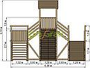 """Зимняя деревянная горка """"Snow Fox 12 м"""" с двумя скатами (две лестницы), фото 10"""