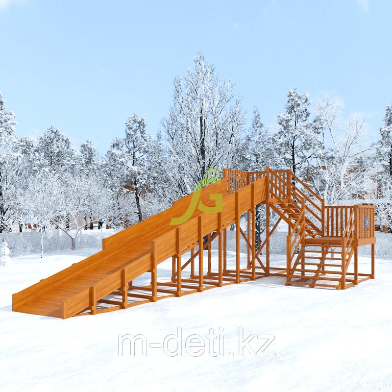 Зимняя горка Snow Fox, скат 10 м (мод. 2)