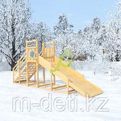"""Зимняя горка """"Снежинка"""", скат 4 м (мод. 2) неокрашенная"""