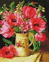 Алмазная мозаика на подрамнике «Маки и полевые цветы», 40х50 см, УА151