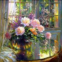 """МСА472 Картина по номерам """"Букет из роз"""", 40х50 см."""