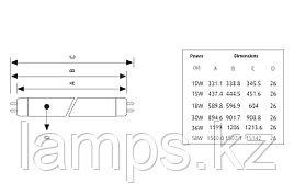 Лампа Люминесцентная VITO T8-10W/WHITE