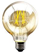 Светодиодная декоративная лампа LEDISONE-RETRO/G95/8W/SMD/E27/25K/220V/CBOX