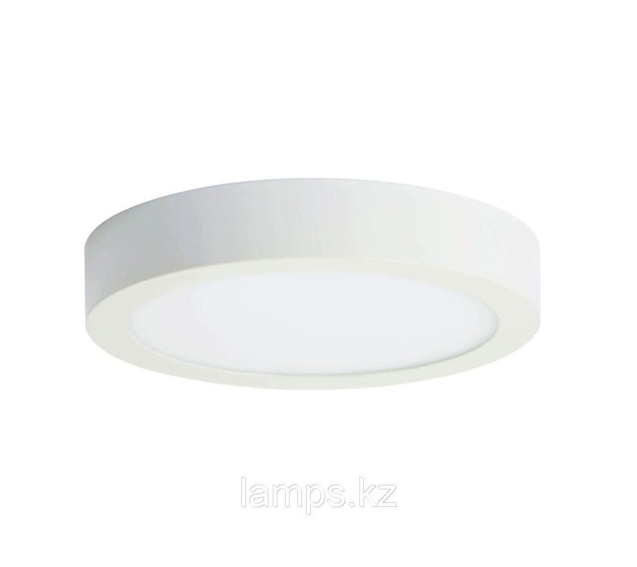 Панель светодиодная накладная LINDA-R/12W/SMD/6000K/Φ160MM
