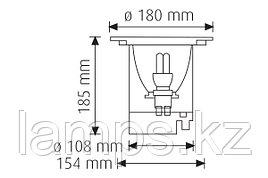 Подземный Светодиодный светильник GRANDE-18/E27/IP67/220V/GR.REC.FIX