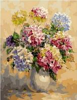 Картина по номерам «Акварельные гортензии», 40х50 см, МСА833