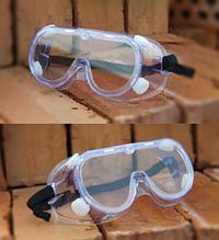 Закрытые защитные очки противочумные с клапаном