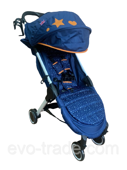 Коляска прогулочная Prego 301 синяя