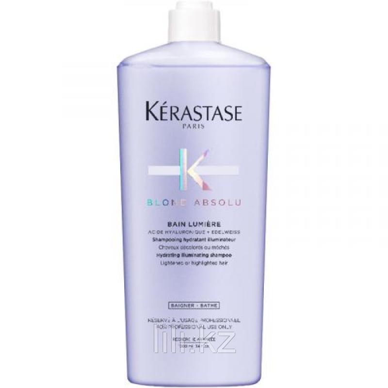 Шампунь-Ванна Kerastase Blond Absolu Lumière для интенсивного очищения и придания волосам сияния 1000 мл.