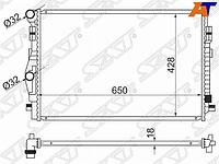 Радиатор AUDI A3/S3 12-/SKODA OCTAVIA 13-/VOLKSWAGEN GOLF 12-/PASSAT B8 14-