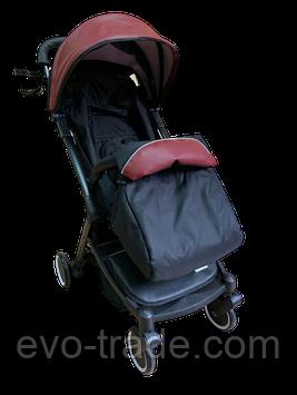 Прогулочная коляска Teknum 308 (ЭКОКОЖА) Бордовая