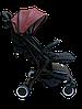 Прогулочная коляска Teknum 308 (ЭКОКОЖА) Бордовая, фото 3