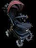 Прогулочная коляска Teknum 308 (ЭКОКОЖА) Бордовая, фото 4