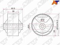 Картридж подушки двигателя RR TOYOTA CORSA/TERCEL/CYNOS/COROLLA 2 94-99/RAUM 97-03