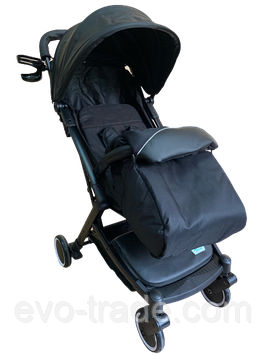 Прогулочная коляска Teknum 308 (ЭКОКОЖА) Черная