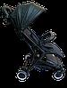 Прогулочная коляска Teknum 308 (ЭКОКОЖА) Черная, фото 3