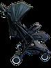 Прогулочная коляска Teknum 308 (ЭКОКОЖА) Черная, фото 4