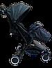Прогулочная коляска Teknum 308 (ЭКОКОЖА) Черная, фото 5