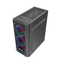 Корпус Wintek Rainbow K106 TG, ATX/Micro ATX, USB 1*3.0/2*2.0, 0,45 mm, 3*12cm SR Rainbow fan, фото 1
