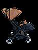 Прогулочная коляска Teknum 308 (ЭКОКОЖА) Рыжая, фото 5