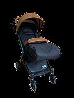 Прогулочная коляска Teknum 308 (ЭКОКОЖА) Рыжая