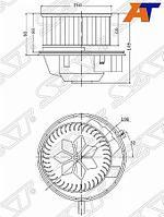 Мотор отопителя салона AUDI Q3 11-18/SKODA YETI 09-18/VW TIGUAN 07-/JETTA 11-(с резистором)