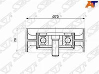 Ролик натяжителя приводного ремня TOYOTA COROLLA/RAV4/AVENSIS 2ADFHV,1ADFTV 05-