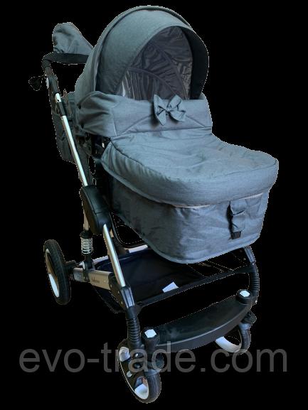 Детская коляска 2 в 1 belecoo Bars 3102 серая