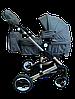 Детская коляска 2 в 1 belecoo Bars 3102 серая, фото 2