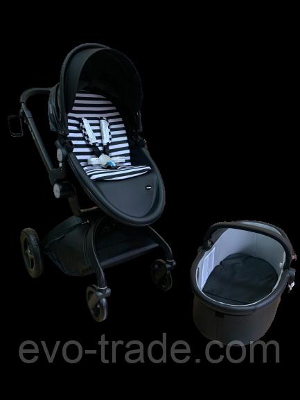 Детская коляска Hot mom 2 в 1 ЭКО-КОЖА