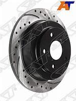 Комплект дисков тормозных задних перфорированных SUBARU IMPREZA/FORESTER/LEGACY 93-03