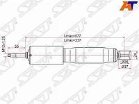 Амортизатор передний TOYOTA DYNA 200/TOYOACE G25 95-03/ISUZU BIGHORN/TROOOPER (задний) LH=RH